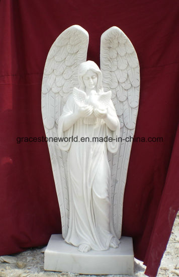 Hunan White Marble Angel Statue pictures & photos