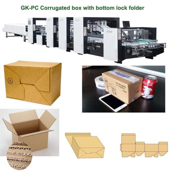 Automatic Corrugated Cardboard Carton Pizza Box Packing Printing Making Machine (GK-1200PC)