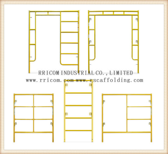 China Yellow Painted H Frame Scaffoding and Scaffold Frame and Walk ...