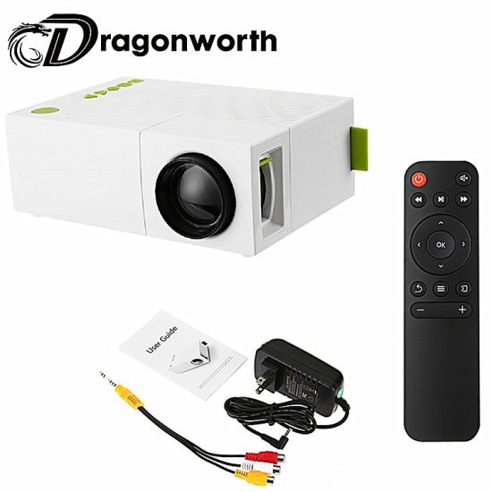 291d4dbea2a2e4 Built-in Battery Portable Mini Pocket Projector HD 1080P Mini Projector  Yg310 with Tuner Outdoor