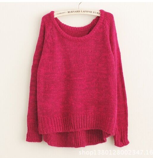 Lady′s Pullover Woolen Fashion Knitted Women Sweater pictures & photos