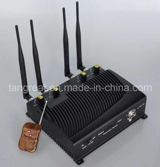 Adjustable Cellular Phone Jammer, with Remote Control (TG-4CA)