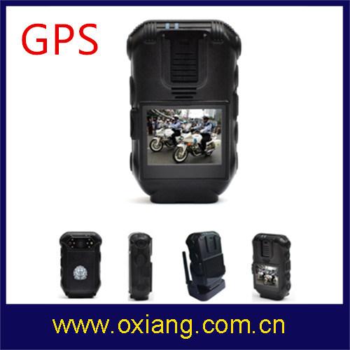 1080P 2'' Police Body Worn DVR Support GPS
