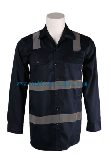 Soft Fr Shirt with Reflective Tape for Industry Worker