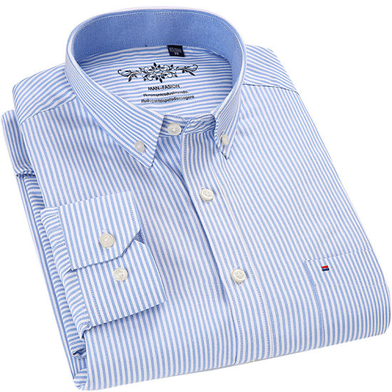 Plain Oxford Men Shirts with Customize Style and Size