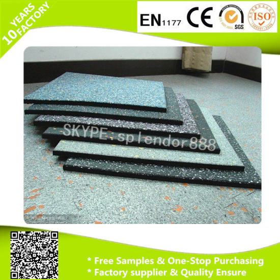 Recycle Rubber Floor Bricks Tiles for Crossfit Gym Rubber Flooring pictures & photos