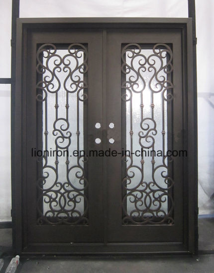 China Stumming Arts And Crafted Exterior Front Iron Sliding Entry