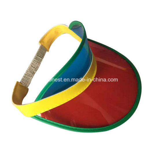 0a197c69 Custom Logo Cheap Promotional Colorful PVC Sun Visor Hat pictures & photos