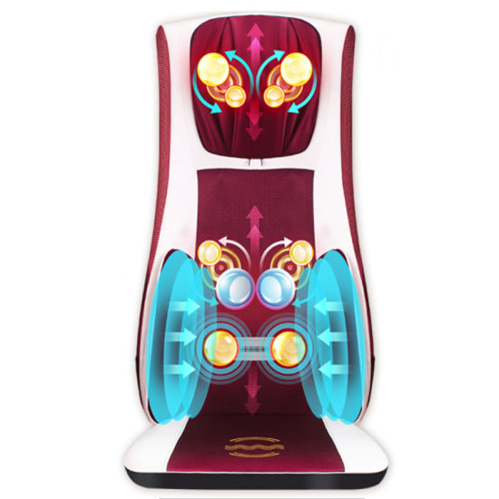 Electric Air Pressure Shiatsu Neck and Back Kneading Massage Cushion pictures & photos