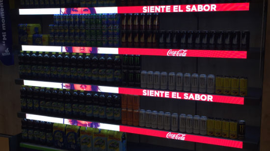 COB P1.2 Indoor Commercial Shelf LED Display Shows Price in Market
