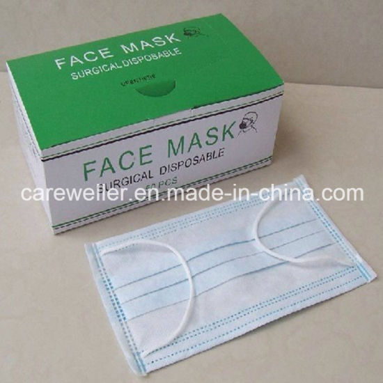 Disposable Non-Woven Surgical Ear-Loop Face Mask pictures & photos