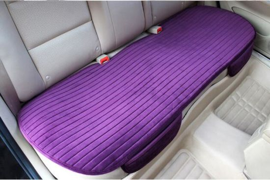 Purple Ergonomic Comfortable PU Leather Car Seat Cushion Cover
