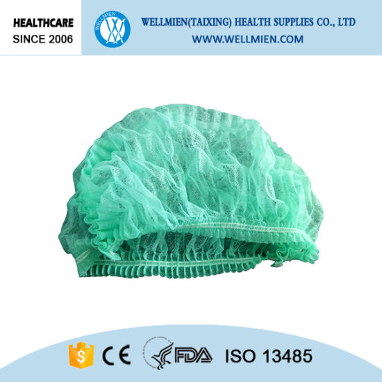 Disposable Nonwoven PP Clip Cap Strip Net Cover pictures & photos