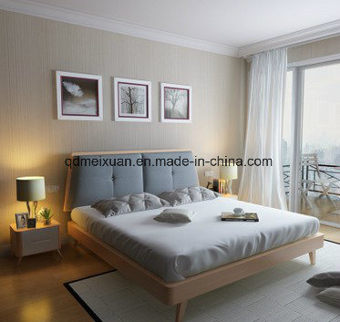 Wood Manufacturers Selling Nordic Contracted Cloth Art Bed Double Bed Ark Combination (M-X3618)
