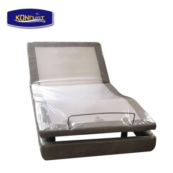 Massage Electric Bed Adjustable Bed with Bed Skirt Underbed Lighting pictures & photos