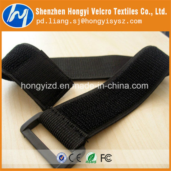 Chinese Factory Elastic Band with Hook & Loop Magic Tape pictures & photos