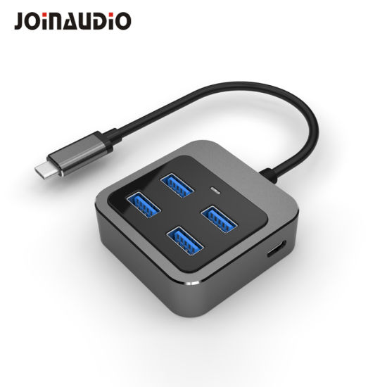 USB Type C to 4 Port USB 3.0 Hub with Power Delivery Type Female Port (9.5022)