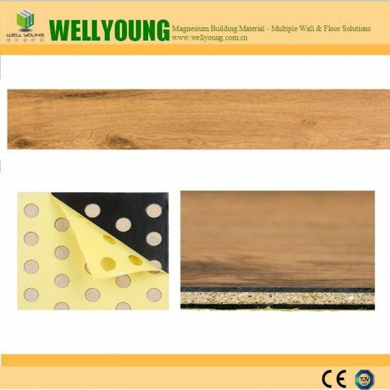 Fireproof and Easy Clean Decorative Vinyl Lvt Vinyl Tile pictures & photos
