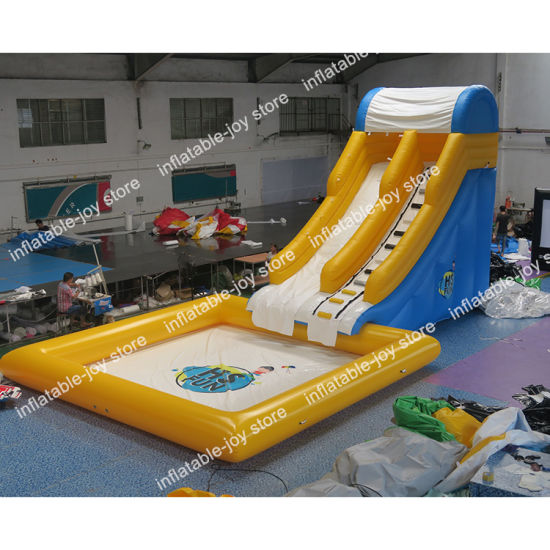 6*3*4m Inflatable Water Slide with 6*6m Pool, Commercial Used Inflatable Slide Bouncer, Kids Slide pictures & photos