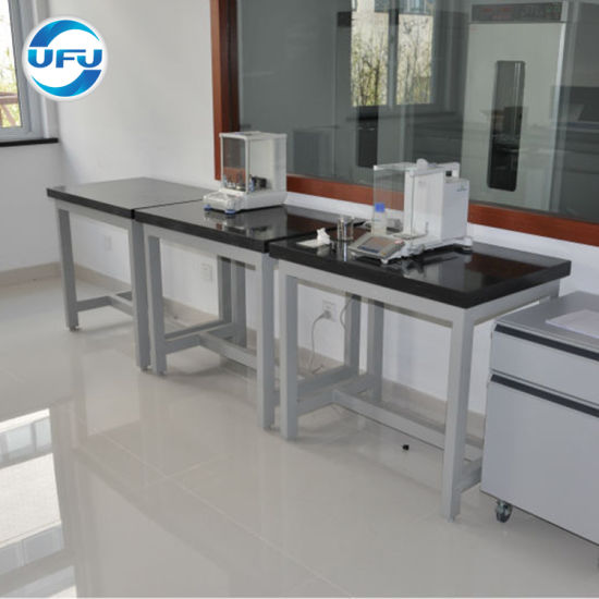 Professional Lab Furniture Marble Balance Table Used In Physics Laboratory