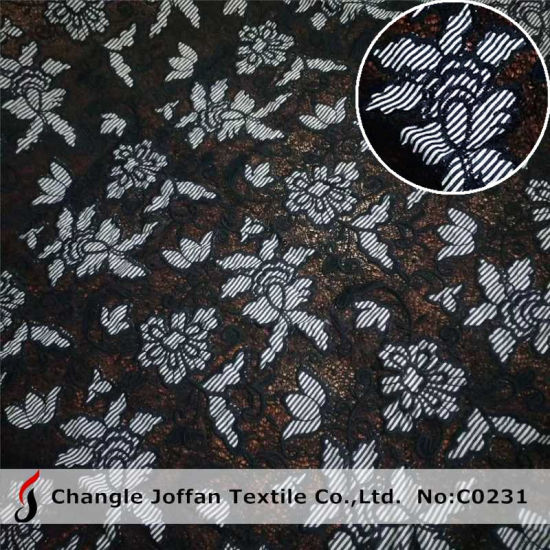 Black Dress Guipure Lace Fabric Polyester Embroidery Lace (C0231)