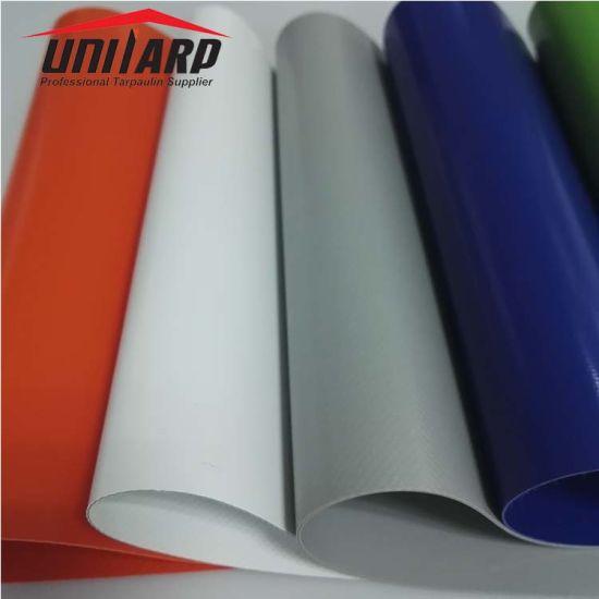 China 18oz 100% Polyester Fabric Roll Vinyl Tarp PVC Coated