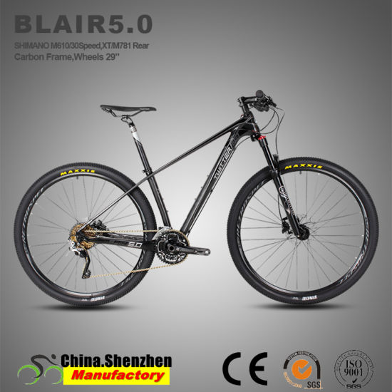 29er 30speed carbon Mountain Bicycle with Aluminum Suspension Air Fork