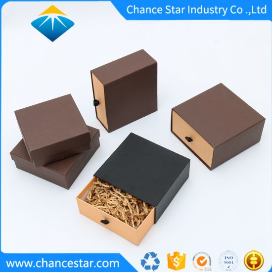 Custom Sizes Paper Cardboard Sliding Gift Packing Drawer Boxes
