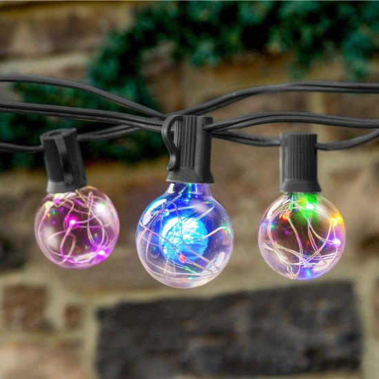 Colorful G40 Globe Copper Wire Lights, Outdoor Starry String Light Bulbs pictures & photos