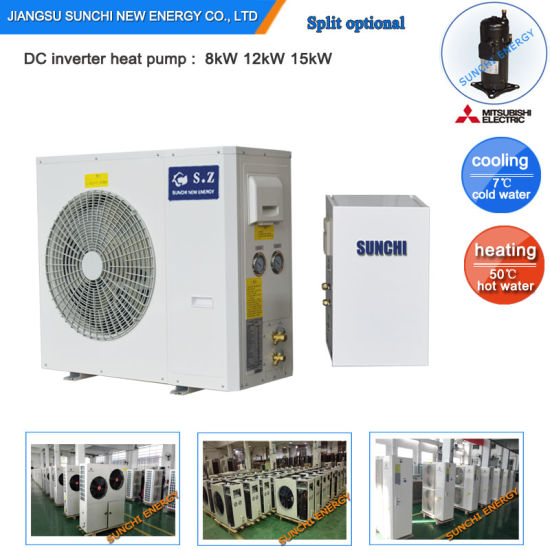 China Running At 25c Cold Winter 55c Hot Water 12kw 19kw 35kw