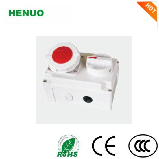 IP67 16A Socket with Switch and Mechanical Interlock pictures & photos