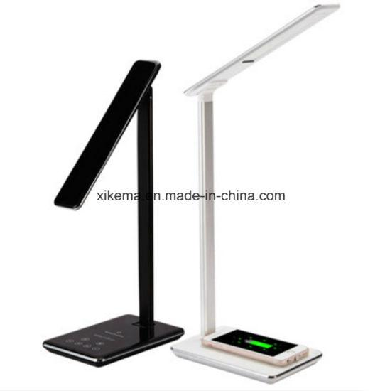 Europe Modern Style Ce Certified Wireless Charging Led Office Lamp Reading Light Desk