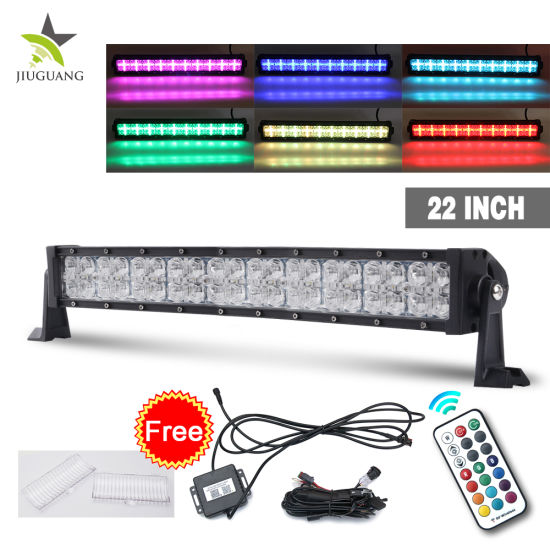 China 7d rgb drl 22 inch 2 row 4x4 led light bar offroad 12v 24 7d rgb drl 22 inch 2 row 4x4 led light bar offroad 12v 24 volt waterproof 4x4 led light bar mozeypictures Gallery