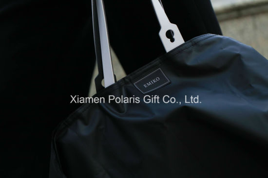 Novalty Customized Transparent Sheer Polyurethane PU Handbag Raincoat with Pouch pictures & photos