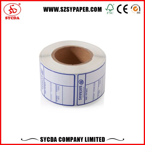 Customized Thermal Paper Roll Self-Adhesive Label for Market