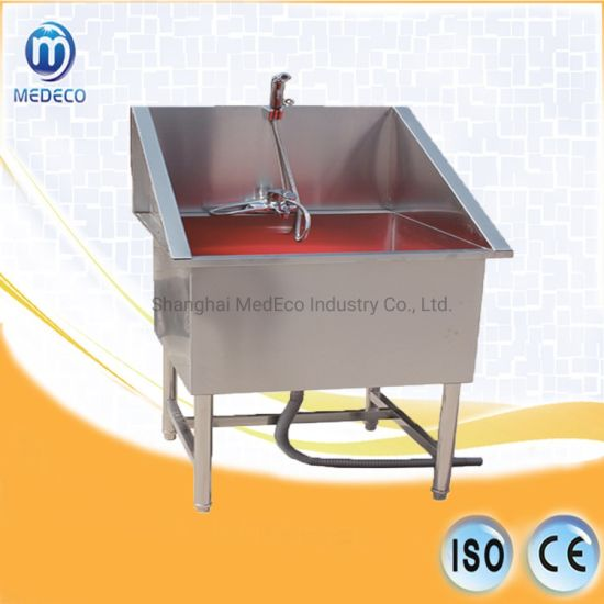 Mex-01 Animal Medical Equipment Veterinary 304 Stainless Steel No Door Dog Tub pictures & photos