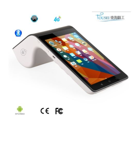 Portable PDA POS Terminal with Micro TF Card Bluetooth Thermal Printer Touch Screen NFC Mifire Chip Card Reader PT7003