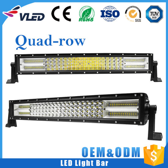 New High Power 384W Quad Row 22 Inch LED Offroad Light Bar Combo, Driving 4 Row Wholesale