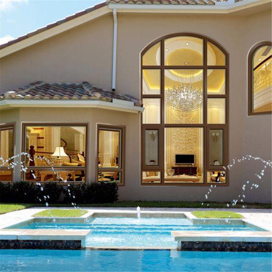 Aluminium Casement Windows Burglar Heat Insulation Sound Insulation Tempered Glass Window