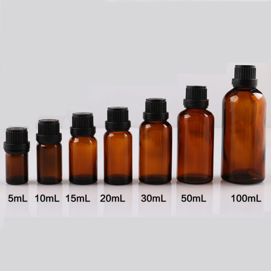 8eb8bb66e6d2 China 5 10 15 20 30 50 100ml Amber Glass Essential Oil Bottle with ...