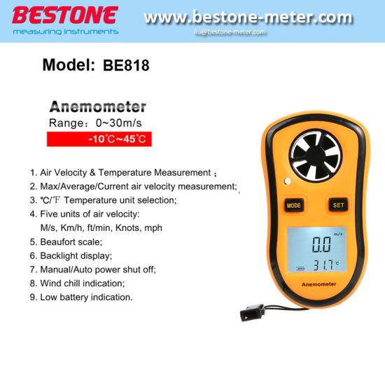 Digital Anemometer, Wind Speed Meter, Anemograph (BE818)