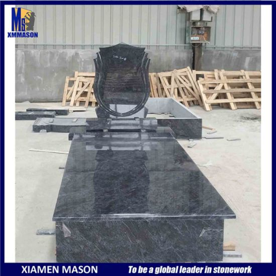 Hungary Simple Polished Granite Tombstone