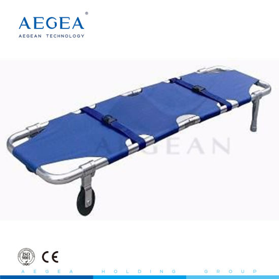 Aluminum alloy foldable stretcher medical//home patient emergency stretcher bed