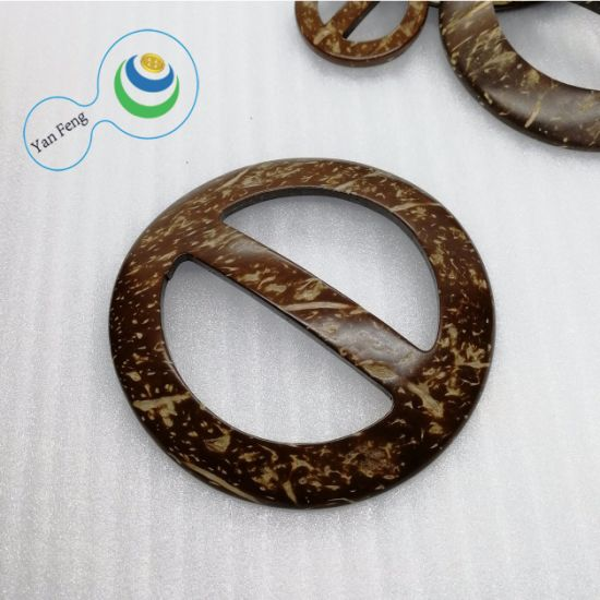 ID45.7mm High Quality Native Coconut Wood Symmetrical Hollow Clothing Buckle