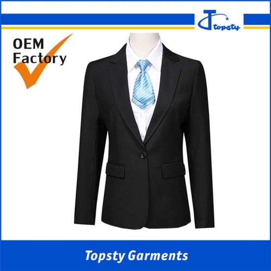 Custom Black Fitting Cotton Male's Formal Suit for Meetings