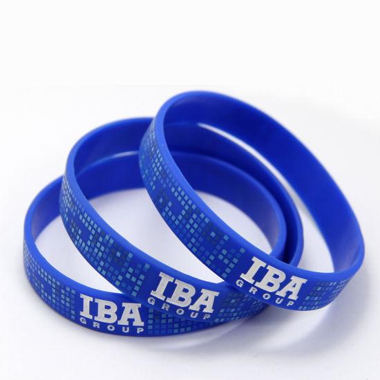 China Wholesale Custom Thin Blue Line Superhero Silicone Bracelet