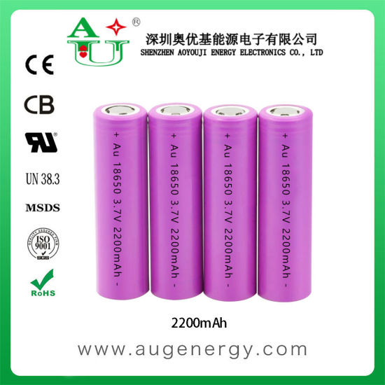 Rechargeable 3.7V 2200mAh Li-ion 18650 Lithium Battery Cell