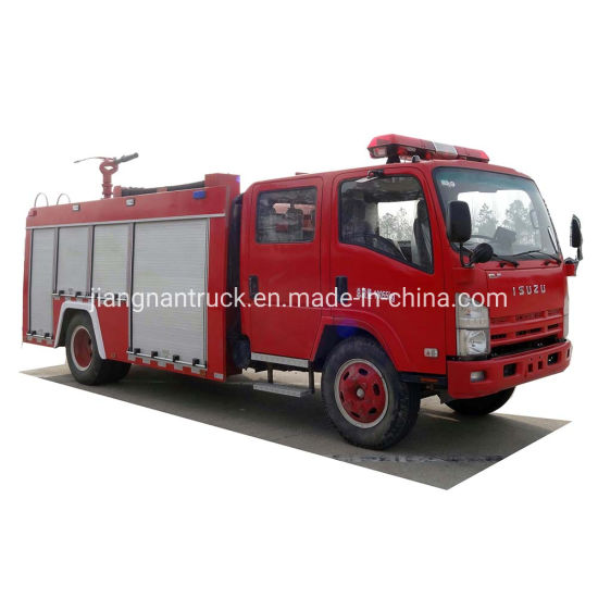 Isuzu Water Tank Fire Fighting Truck Brand New Fire Truck 4 Ton Fire Fighting Vehicle Rescue Fire Engine Truck for Sale