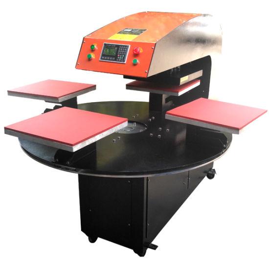 Pneumatic Automatic Four Stations Heat Press Machine (CY-B)