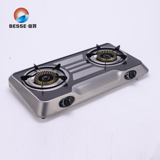 Gas Double Burner Oven Chinese Gas Cooker Passed ISO9001 Zg-2069